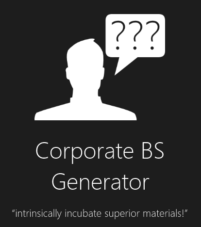 Corporate BS Generator Promotional Image