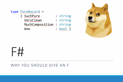 F# - Why You Should Give an F Title Slide